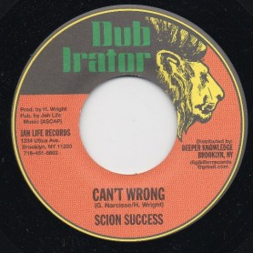 "(7"") SCION SUCCESS - CAN'T WRONG / MUSIC IN THE AREA"