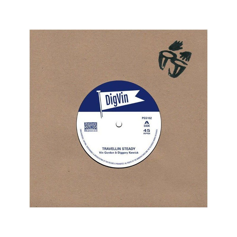 "(7"") VIN GORDON & DIGGORY KENRICK - TRAVELLIN STEADY / STEADY TRAVELLIN"