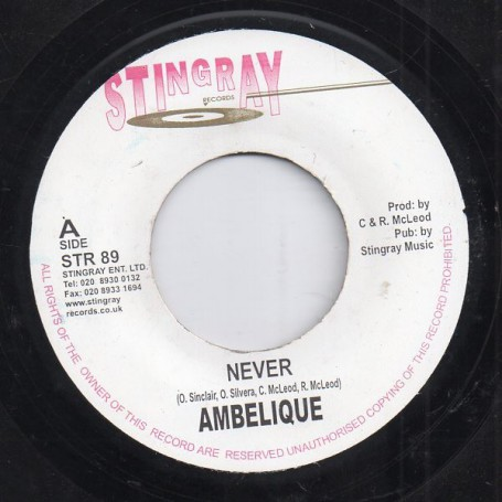 "(7"") AMBELIQUE - NEVER / BLESSINGS"