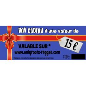 BON CADEAU DE 15 €