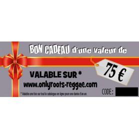 BON CADEAU DE 75 €