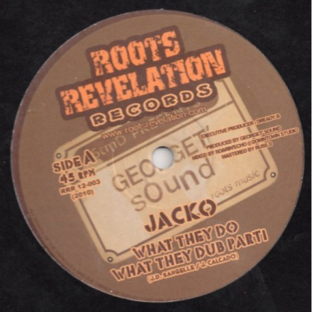 """(12"""") JACKO - WHAT THEY DO / WHAT THEY DUB"""