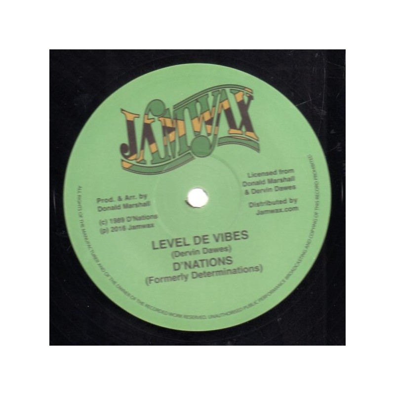 """(12"""") D'NATIONS - LEVEL THE VIBES / VIBES VERSION"""