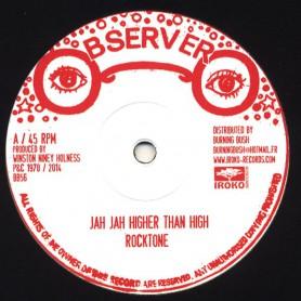 "(12"") ROCKTONE - JAH JAH HIGHER THAN HIGH / UNBELIEVERS"