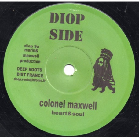 "(7"") COLONEL MAXWELL - HEART & SOUL / BUSH CHEMISTS - DUB CUT"