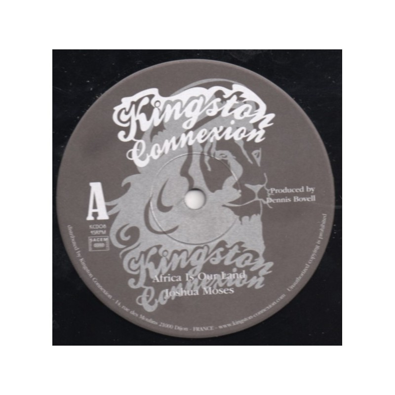 """(12"""") JOSHUA MOSES - AFRICA IS OUR LAND / DENNIS BOVELL - HOME"""