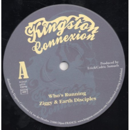 "(10"") ZIGGY MARLEY & EARTH DISCIPLES - WHO'S RUNNING"