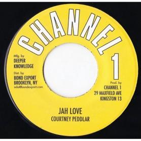 """(7"""") COURTNEY PEDDLAR - JAH LOVE / VERSION"""