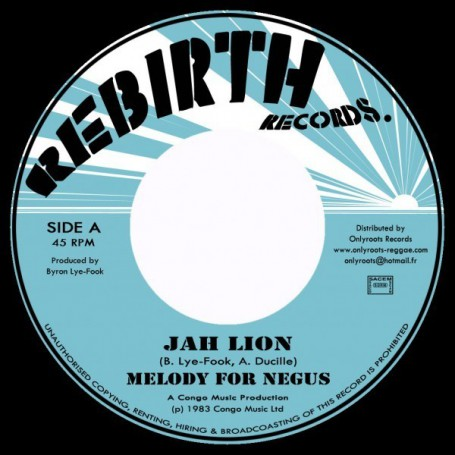 "(7"") JAH LION - MELODY FOR NEGUS / NEGUS DUB"