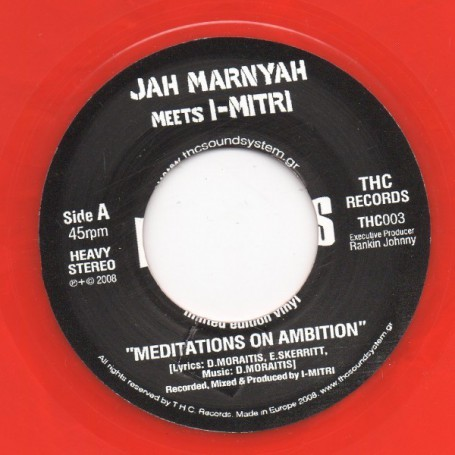 "(7"") JAH MARNYAH Meets I-MITRI - MEDITATIONS ON AMBITION / DUB OF AMBITION"
