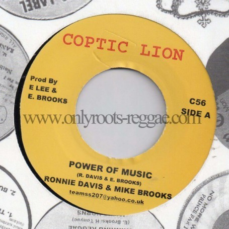 "(7"") RONNIE DAVIS & MIKE BROOKS - POWER OF MUSIC"