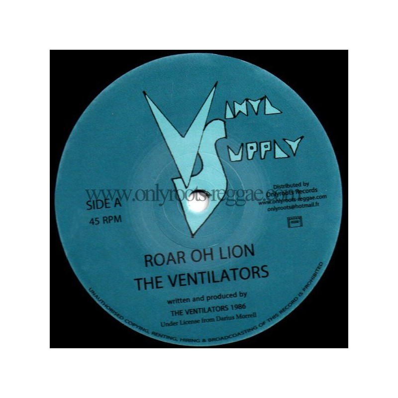 "(12"") THE VENTILATORS - ROAR OH LION / SOLDIER OF JAH"