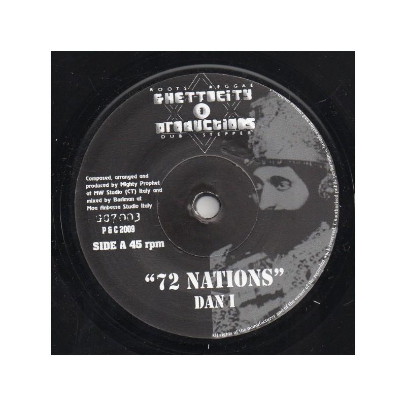 "(7"") DAN I - 72 NATIONS / MIGHTY PROPHET, BURIMAN - 72 NATIONS DUB"