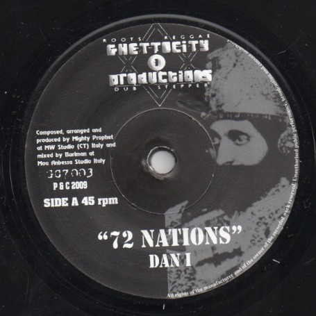 "(7"") DAN I - 72 NATIONS / MIGHTY PROPHET, BURIMAN - 72 NATIONS DUB"
