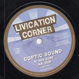 """(7"""") COPTIC SOUND - RED ZONE / DUB"""
