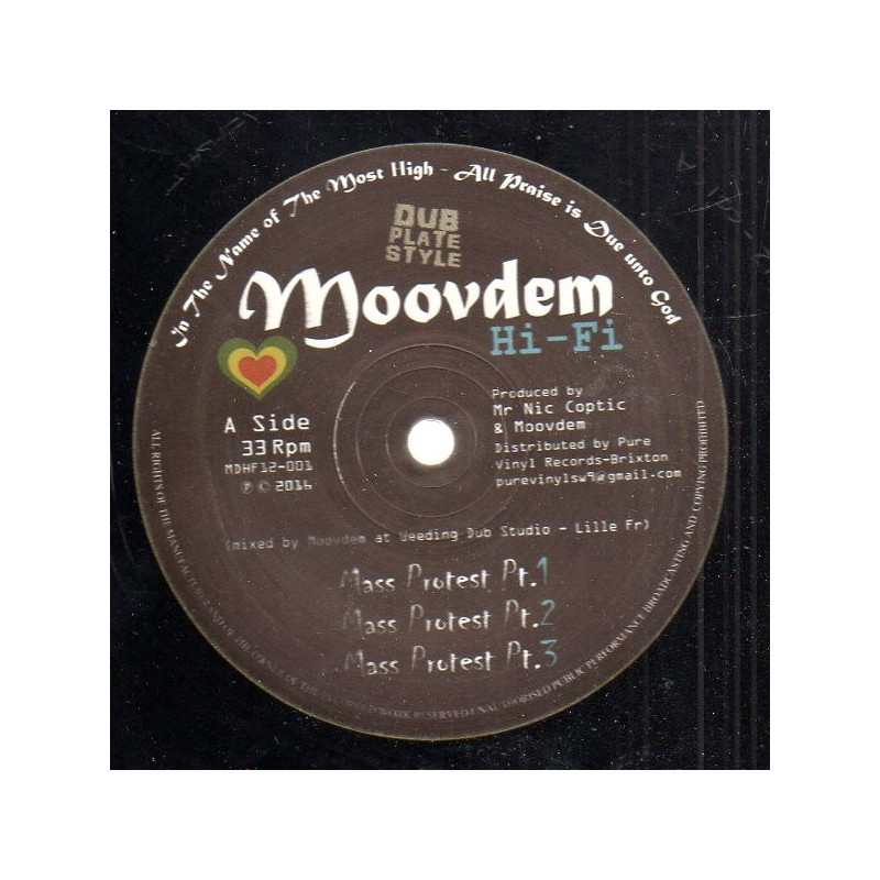 "(12"") MOOVDEM HI-FI - MASS PROTEST / THE FILES"