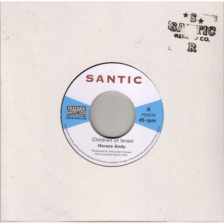 "(7"") HORACE ANDY - CHILDREN OF ISRAEL / PABLO IN DUB"