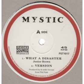 """(10"""") JUNIOR BROWN - WHAT A DISASTER / THE DISCIPLE - DISASTER REMIX"""