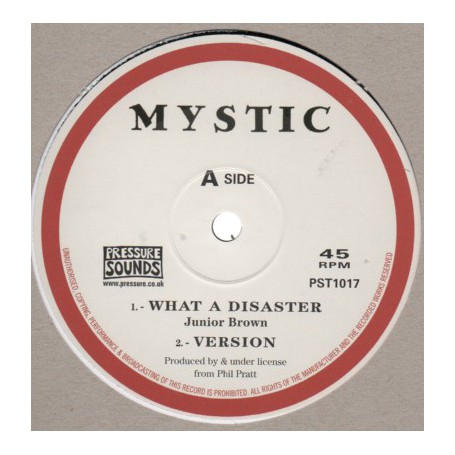 "(10"") JUNIOR BROWN - WHAT A DISASTER / THE DISCIPLE - DISASTER REMIX"