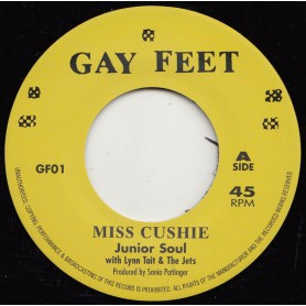 "(7"") JUNIOR SOUL FEAT LYNN TAIT & THE JETS - MISS CUSHIE / LENNIE HIBBERT - PURE SOUL"
