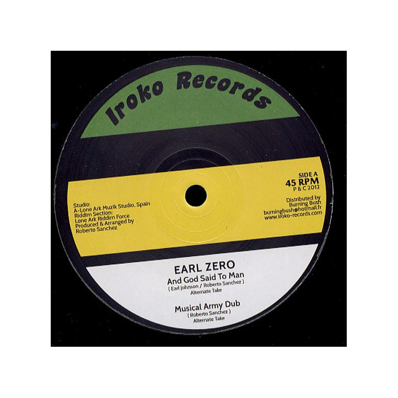 """(12"""") EARL ZERO - AND GOD SAID TO MAN / NONE SHALL ESCAPE THE JUDGEMENT"""