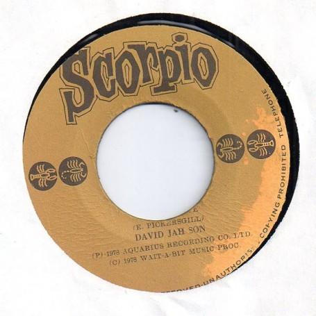 "(7"") DAVID JAH SON - LIVE AND LOVE"