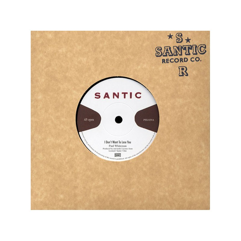 "(7"") LEONARD SANTIC CHIN - I DON'T WANT TO LOSE YOU DUB MIX 1 & 2"