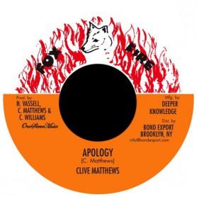 "(7"") CLIVE MATTHEWS - APOLOGY"