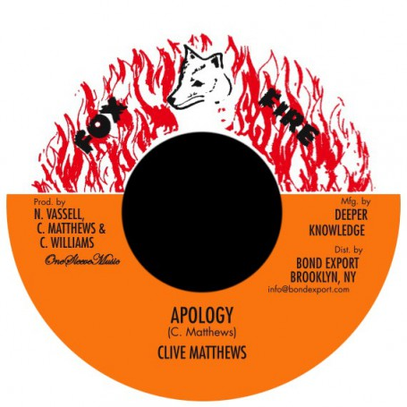 "(7"") CLIVE MATTHEWS - APOLOGY / VERSION"