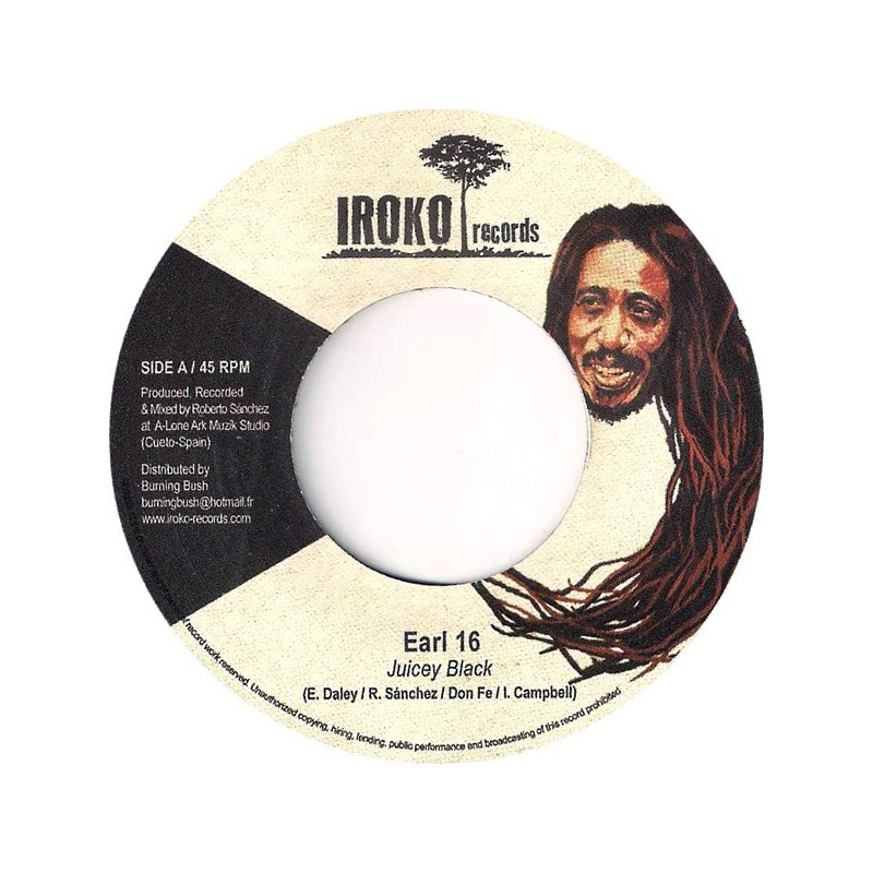 """(7"""") EARL SIXTEEN - JUICEY BLACK / THE PRODUCERS"""