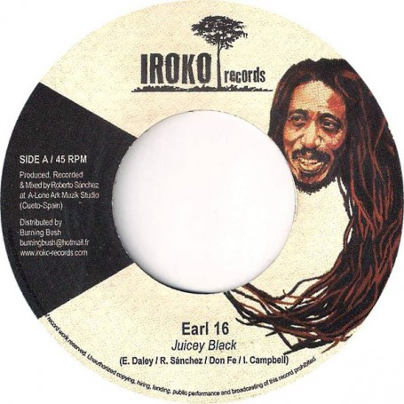 "(7"") EARL SIXTEEN - JUICEY BLACK / THE PRODUCERS"