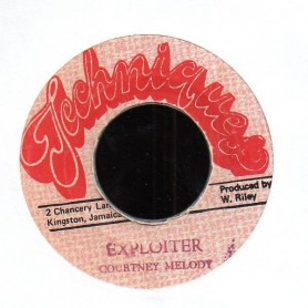 "(7"") COURTNEY MELODY - EXPLOITER / VERSION"