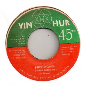 "(7"") VINNIE O'BRYAN - FREE AGAIN / VERSION"