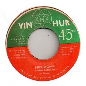 """(7"""") VINNIE O'BRYAN - FREE AGAIN / VERSION"""