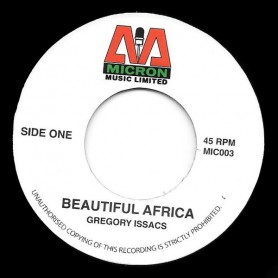 "(7"") GREGORY ISAACS - BEAUTIFUL AFRICA / VERSION"