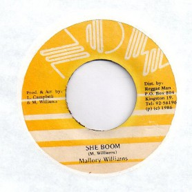 "(7"") MALLORY WILLIAMS - SHE BOOM / DUB"