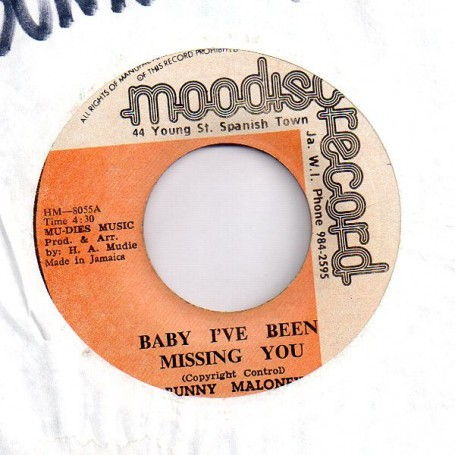 "(7"") BUNNY MALONEY - BABY I'VE BEEN MISSING YOU / BABY ROCKERS"