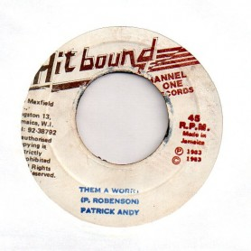 """(7"""") PATRICK ANDY - THEM A WORRY / VERSION"""