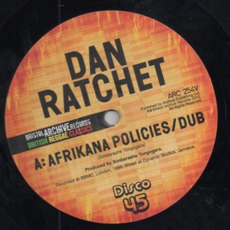 "(12"") DAN RATCHET - AFRIKANA POLICIES / EKOME IS UNITY"