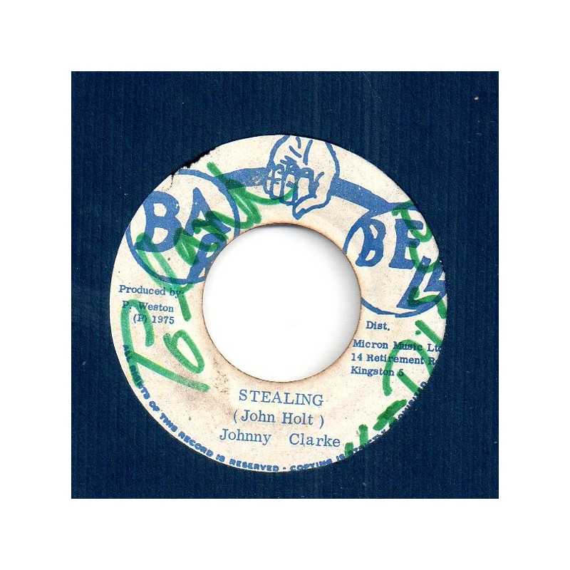 "(7"") JOHNNY CLARKE - STEALING / DUB"