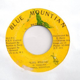 "(7"") ERROL SCORPION - GIRL FRIEND / BUBBLE ROCK"