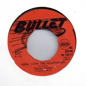"(7"") DELROY WILSON - HEAR COME THE HEARTACHES / YOU'LL BE SORRY"