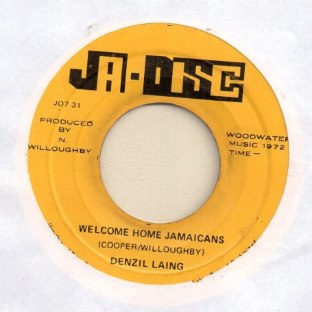 "(7"") DENZIL LAING - WELCOME HOME JAMAICANS / COUNTRY"