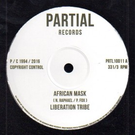 """(10"""") LIBERATION TRIBE - AFRICAN MASK / PAUL FOX - WRITING ON THE WALL"""