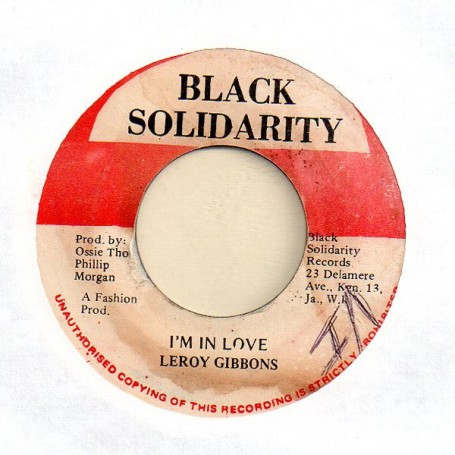 "(7"") LEROY GIBBONS - I'M IN LOVE / VERSION"