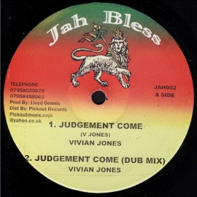 "(10"") VIVIAN JONES - JUDGEMENT COME / PICKOUT ALL STAR - DUB"