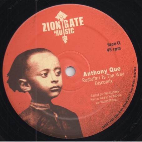 "(12"") ANTHONY QUE - RASTAFARI IS THE WAY / RAS MAC BEAN - JAH HAVE THE KEY"
