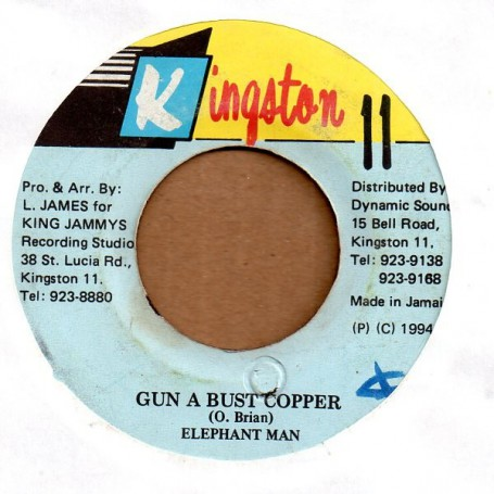 "(7"") ELEPHANT MAN - GUN A BUST COPPER / VERSION"
