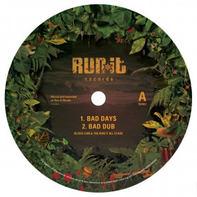 "(12"") BLOOD LION & THE RUN IT ALL STARS - BAD DAYS / WADADA"