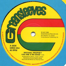 """(12"""") MICHAEL PROPHET - YOU ARE NO GOOD / LOVE AND UNITY"""